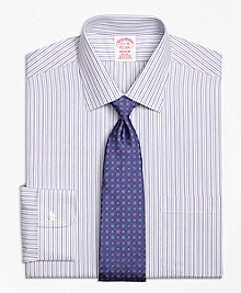 Non-Iron Madison Fit Split Stripe Dress Shirt