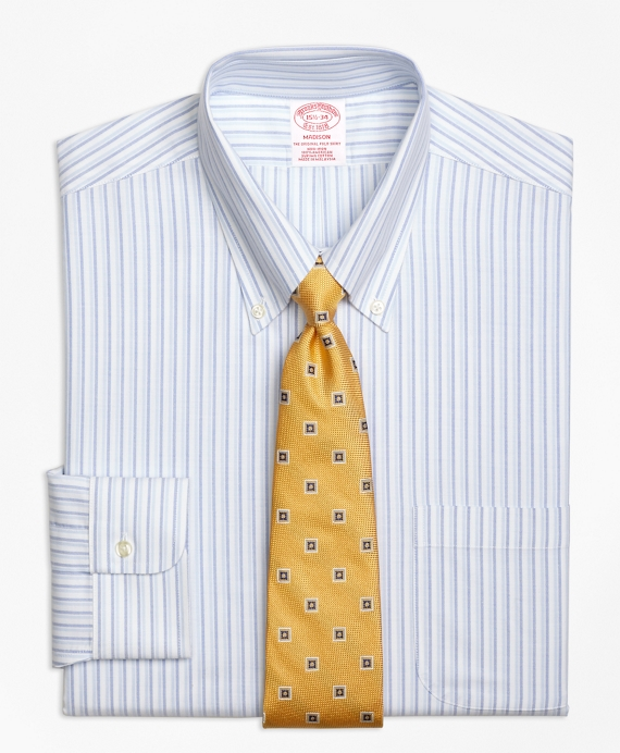 BrooksCool® Madison Classic-Fit Dress Shirt, Non-Iron Double Stripe