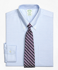 Non-Iron BrooksCool® Milano Fit Parquet Check Dress Shirt