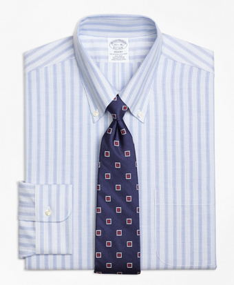 Non-Iron BrooksCool® Regent Fit Split Stripe Dress Shirt