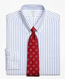 Non-Iron BrooksCool® Regent Fit Wide Stripe Dress Shirt