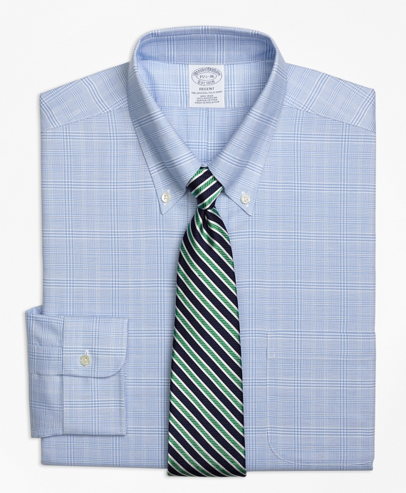 BrooksCool® Regent Fitted Dress Shirt, Non-Iron Glen Plaid