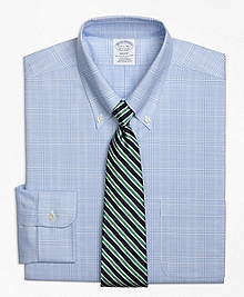 Non-Iron BrooksCool® Regent Fit Glen Plaid Dress Shirt