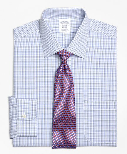 Regent Fitted Dress Shirt, Non-Iron Triple Tattersall