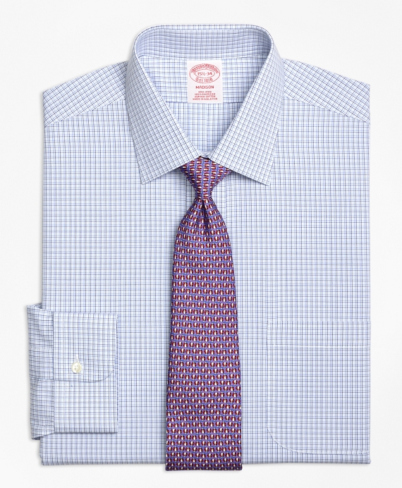 Madison Classic-Fit Dress Shirt, Non-Iron Triple Tattersall