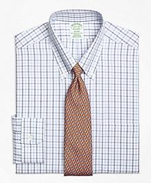 Non-Iron Milano Fit Alternating Check Dress Shirt