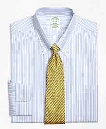 Non-Iron Milano Fit Track Stripe Dress Shirt