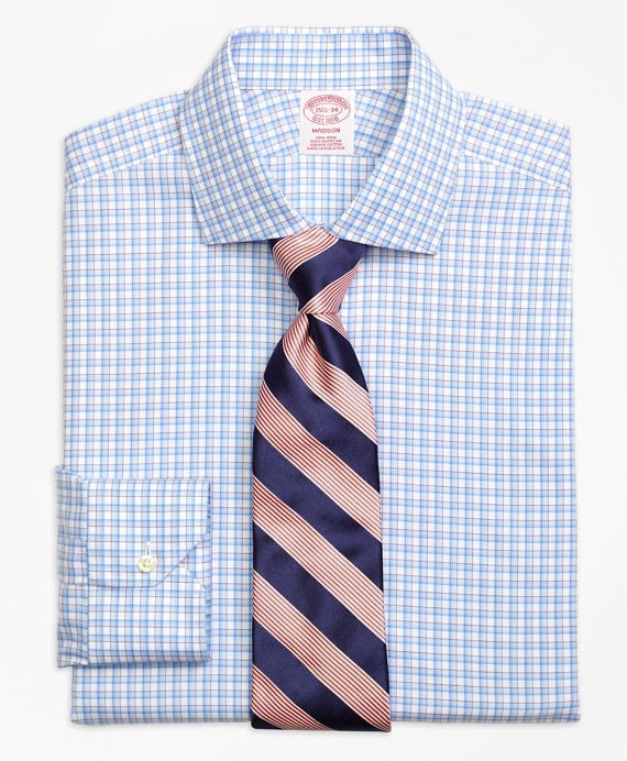 Madison Classic-Fit Dress Shirt, Non-Iron Bold Shadow Check