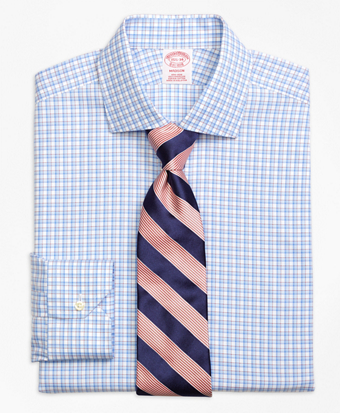 Non-Iron Madison Fit Bold Shadow Check Dress Shirt