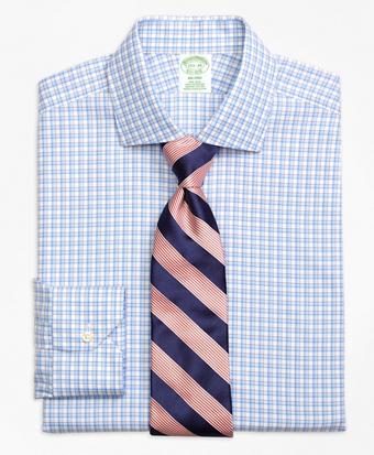 Non-Iron Milano Fit Bold Shadow Check Dress Shirt