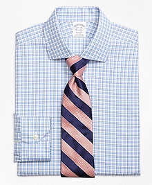Non-Iron Regent Fit Bold Shadow Check Dress Shirt