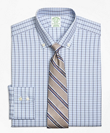 Non-Iron Milano Fit Alternating Framed Tattersall Dress Shirt