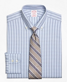 Non-Iron Madison Fit Alternating Framed Tattersall Dress Shirt