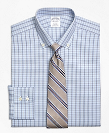 Non-Iron Regent Fit Alternating Framed Tattersall Dress Shirt