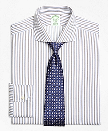 Non-Iron Milano Fit Alternating Triple Stripe Dress Shirt