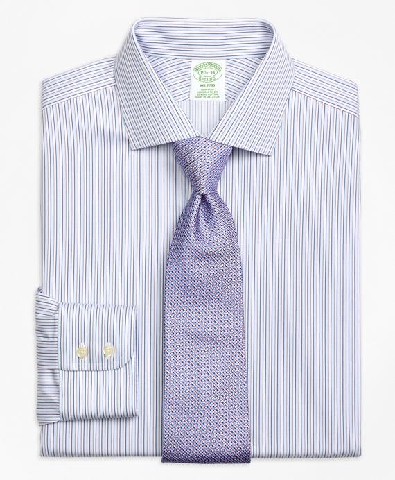 Non-Iron Milano Fit Sidewheeler Stripe Dress Shirt
