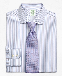 Non-Iron Milano Fit Sidewheeler Stripe Dress Shirt