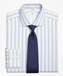 Non-Iron Milano Fit Alternating Stripe Dress Shirt