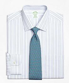 Non-Iron Milano Fit  Alternating Hairline Stripe Dress Shirt