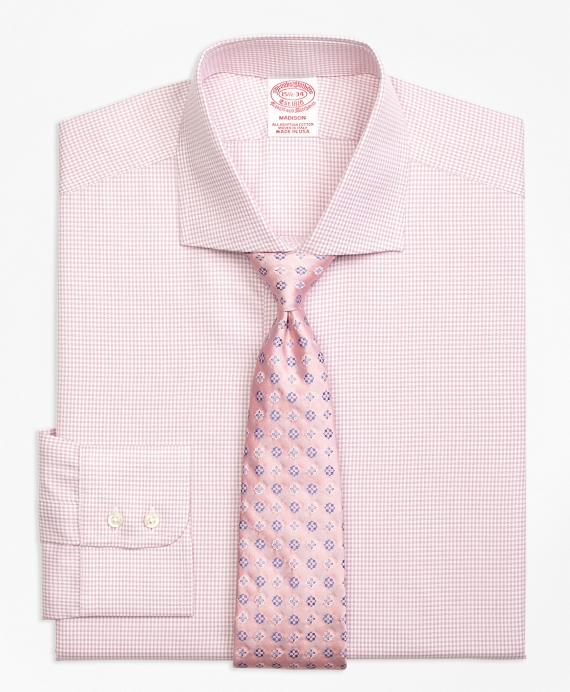 Madison Classic-Fit Dress Shirt, Framed Check Pink