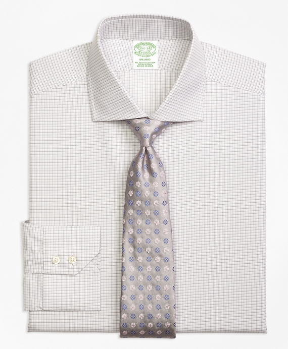 Milano Slim-Fit Dress Shirt, Sidewheeler Check Grey