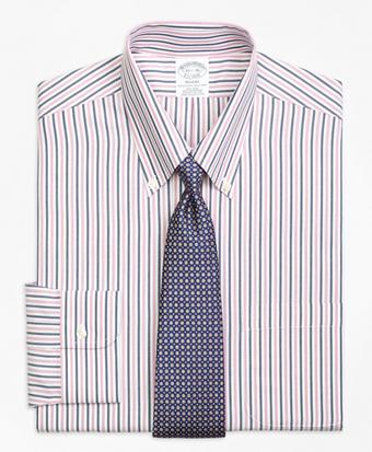 Non-Iron Regent Fit Bold Stripe Dress Shirt