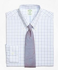 Non-Iron Milano Fit Alternating Twin Tattersall Dress Shirt