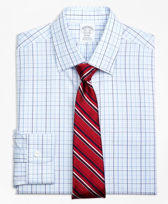 Non-Iron Regent Fit Music Overcheck Dress Shirt