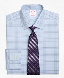 Non-Iron Madison Fit Two-Tone Glen Plaid Dress Shirt