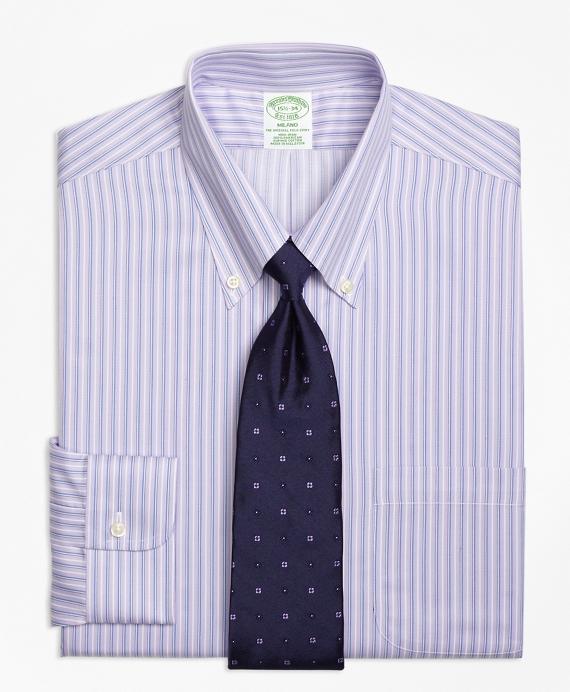 Non-Iron Milano Fit Triple Stripe Dress Shirt