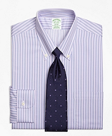 Non-Iron Milano Fit Triple Stripe Dress Shirt