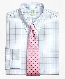 Non-Iron Milano Fit Alternating Overcheck Dress Shirt