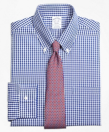Non-Iron Regent Fit Framed Check Dress Shirt