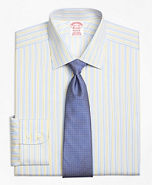 Non-Iron Madison Fit Sidewheeler Stripe Dress Shirt
