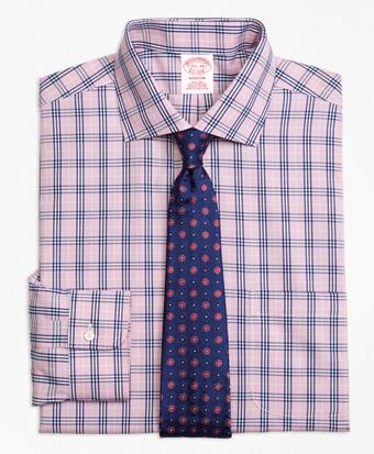 Non-Iron Madison Fit BB#10 Glen Plaid Dress Shirt