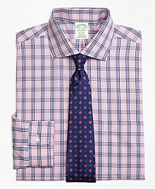 Non-Iron Milano Fit BB#10 Glen Plaid Dress Shirt