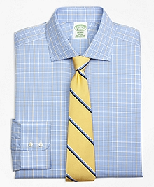 Non-Iron Milano Fit Glen Plaid Overcheck Dress Shirt