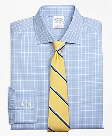 Non-Iron Regent Fit Glen Plaid Overcheck Dress Shirt