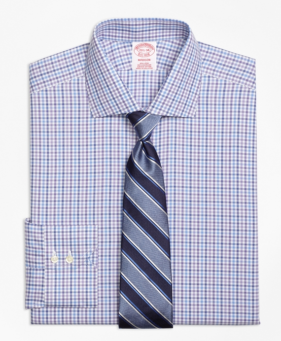 Madison Classic-Fit Dress Shirt, Non-Iron Multi Check