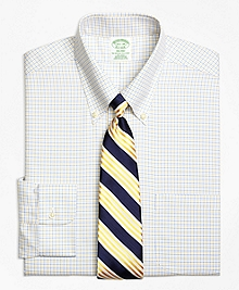 Non-Iron Milano Fit Two-Color Tattersall Dress Shirt