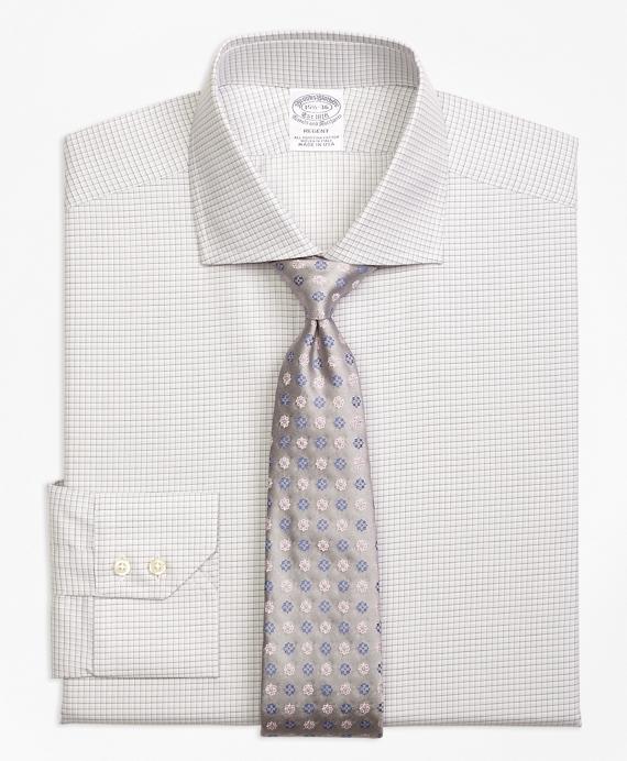 Regent Fitted Dress Shirt, Sidewheeler Check Grey