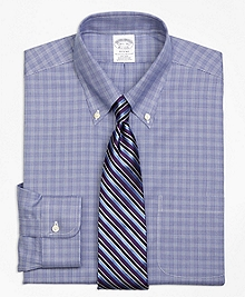 Non-Iron Regent Fit Glen Plaid Dress Shirt