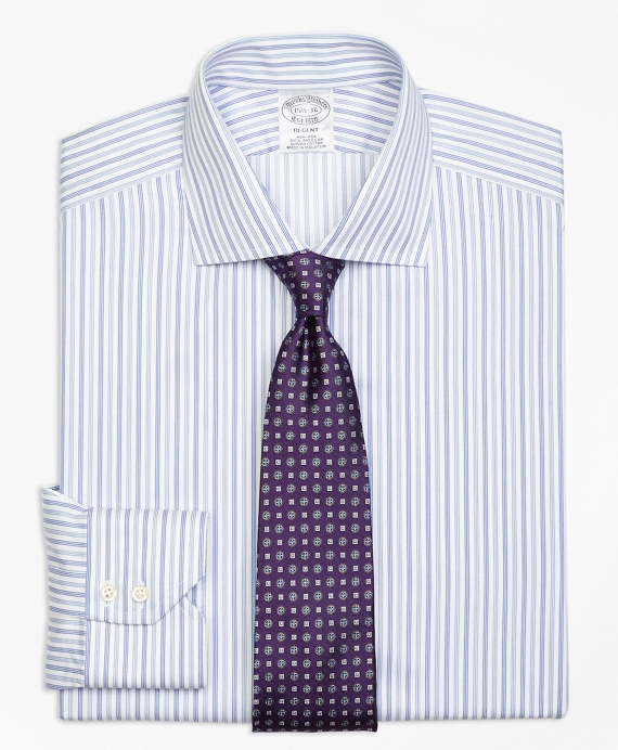 Regent Fitted Dress Shirt, Non-Iron Alternating Triple Stripe