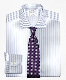 Non-Iron Regent Fit Alternating Triple Stripe Dress Shirt