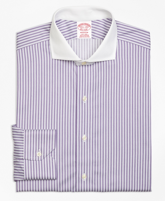 1920s Style Mens Shirts Non-Iron Madison Fit Bold Stripe Dress Shirt $120.00 AT vintagedancer.com