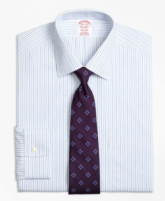 Madison Classic-Fit Dress Shirt, Non-Iron Alternating Stripe