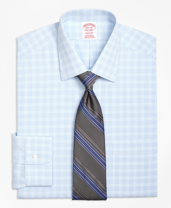 Madison Classic-Fit Dress Shirt, Non-Iron Tonal Glen Plaid