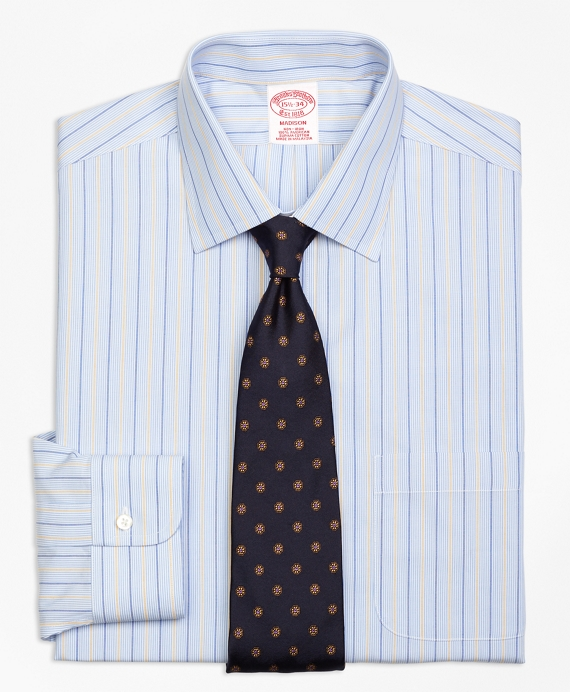 Madison Classic-Fit Dress Shirt, Non-Iron Hairline Alternating Stripe