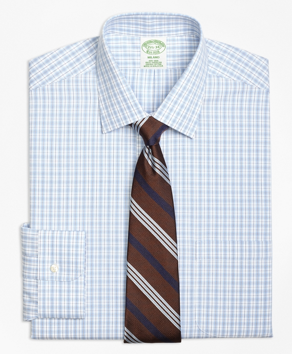 Non-Iron Milano Fit Split Check Dress Shirt