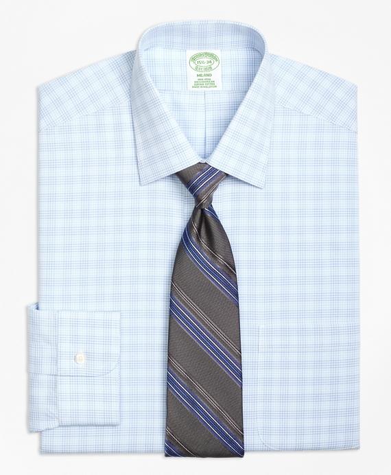 Non-Iron Milano Fit Tonal Glen Plaid Dress Shirt